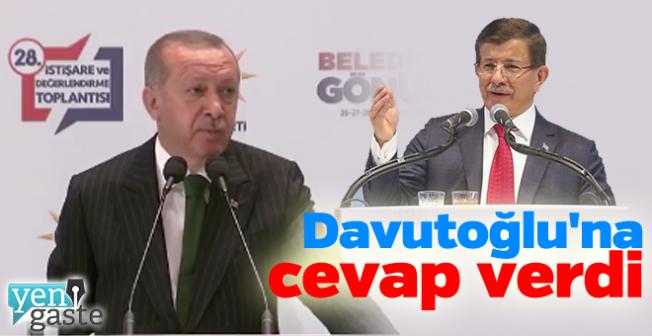 Erdoğan'dan Davutoğlu'na cevap !