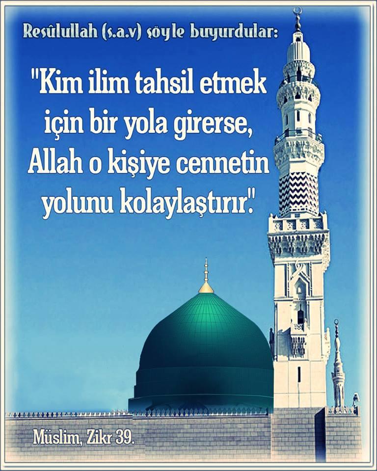 Hz Muhammed ''İlim öğrenmenin önemi''
