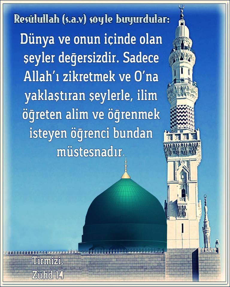 Hz Muhammed ''Allah katında değerli kul''