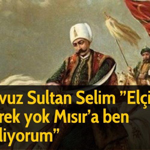 Yavuz Sultan Selim ''Elçiye gerek yok Mısır'a ben geliyorum''