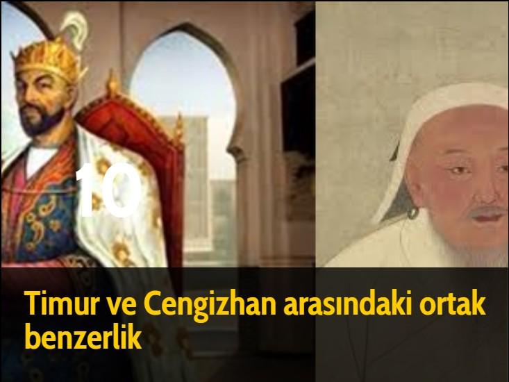Timur ve Cengizhan arasındaki ortak benzerlik