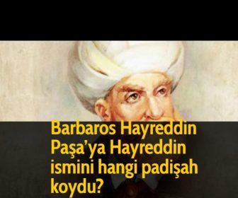 Barbaros Hayreddin Paşa'ya Hayreddin ismini hangi padişah koydu?