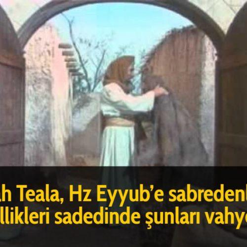 Allah Teala, Hz Eyyub'e sabredenlerin özellikleri sadedinde şunları vahyetti: