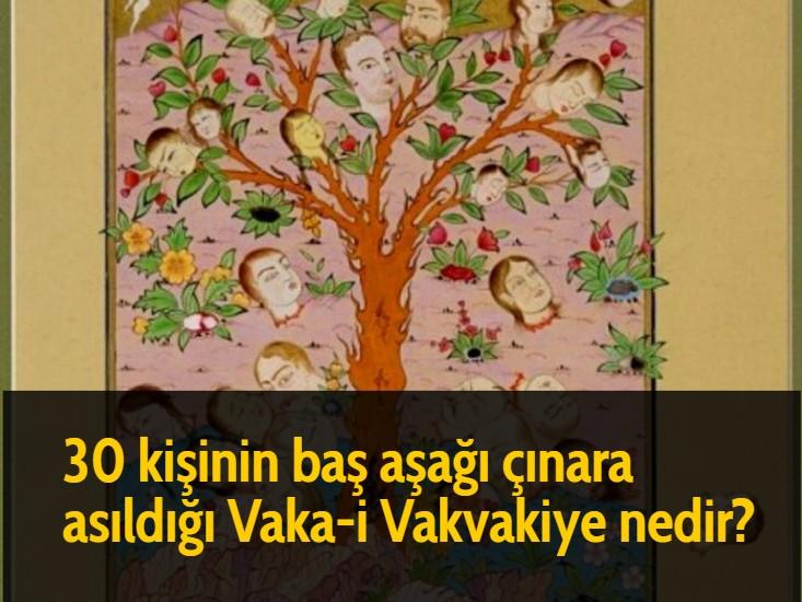 30 kişinin baş aşağı çınara asıldığı Vaka-i Vakvakiye nedir?
