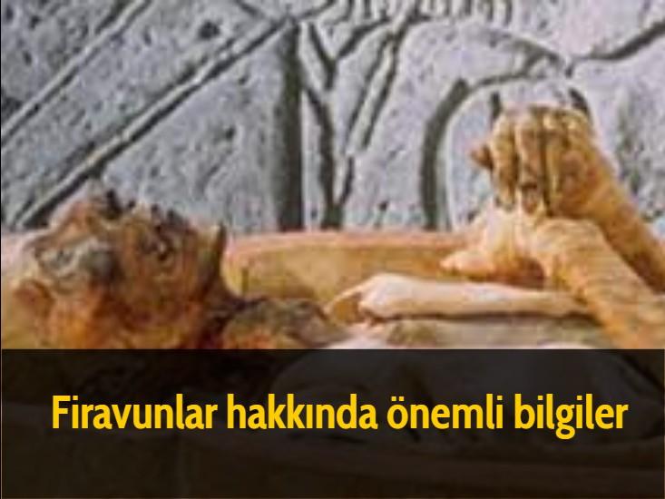 Firavunlar hakkında önemli bilgiler
