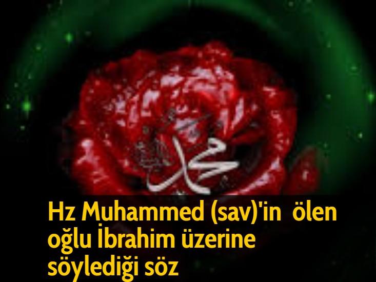 Hz Muhammed (sav)'in ölen oğlu İbrahim üzerine söylediği söz