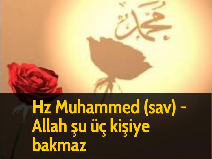 Hz Muhammed (sav) - Allah şu üç kişiye bakmaz;