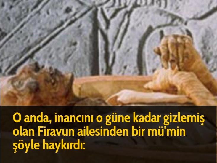 Firavun'un amcasının oğlu nasıl müslüman oldu? O anda, inancını o güne kadar gizlemiş olan Firavun ailesinden bir mü'min şöyle haykırdı: