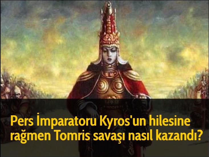 Pers İmparatoru Kyros'un hilesine rağmen Tomris savaşı nasıl kazandı? Kroises'un önceden kendisine verdiği öğüdü tutarak İskitleri kandırmak için bir miktar askerini bolca yemek ve şarapla bırakıp asıl savaşçı gücüyle geri çekilir. İskitler bu hileye aldanarak