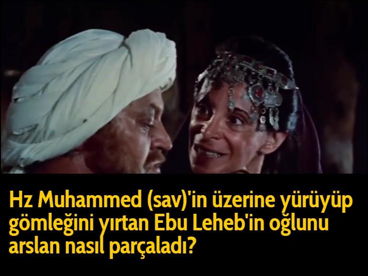 Hz Muhammed (sav)'in üzerine yürüyüp gömleğini yırtan Ebu Leheb'in oğlunu arslan nasıl parçaladı?