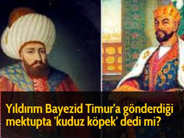Yıldırım Bayezid Timur'a gönderdiği mektupta 'kuduz köpek' dedi mi?